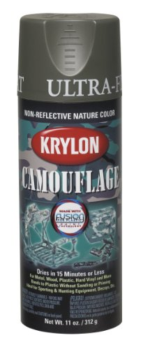 Krylon K04293000 Camouflage With Fusion For Plastic Paint Technology Aerosol Spray Paint, 11Ounce, Camouflage Olive Picture