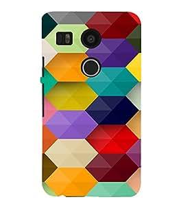 PrintVisa Prisma Colorful Pattern 3D Hard Polycarbonate Designer Back Case Cover for LG Google Nexus 5X