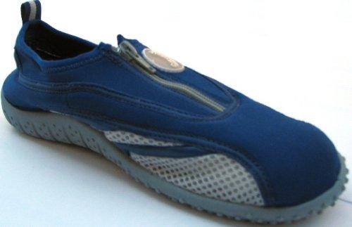 Aquatik Men and Women Aqua Water Shoes Beach Shoes with Zipper closure AD3316L Women 7 Navy