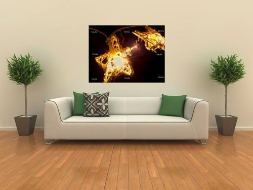 'Lichterkette' Wall Decal – 36″W x 27″H Removable Graphic