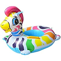 Magideal Kids Inflatable Blowup Beach Pool PVC Swim Boat Holiday Party Toy Zebra Boat