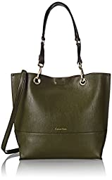 Calvin Klein Reversible Tote Bag, Olive/Antique Bronze, One Size