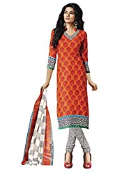 Fabgruh Women's Art Crepe Unstitched Dress Material (FG-DLZ1019_Orange_Free Size)