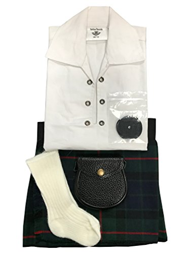 gunn-moderntartan-bebe-ajustable-kilt-traje-manguera-sporran-0-24-meses-verde-verde-talla12-24