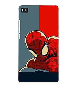 printtech Superhero Avengers Back Case Cover for Huawei Honor P8