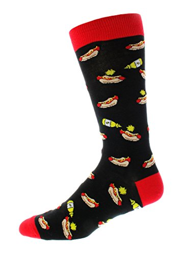 Man Cave Trouser Socks (Hotdog - Black)