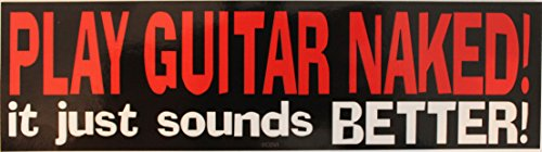 C&D Visionary Music Play Guitar Naked Sticker