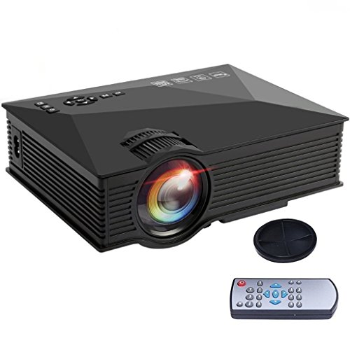Wifi Projector, Yisale Multimedia Mini 1200 Lumens HD Pro Wireless Portable LCD LED Home Theater Projector Support 1080P With IP/IR/USB/SD/HDMI/VGA (UC46)
