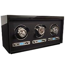 Wolf Designs 4537-70 Meridian Triple Watch Winder