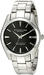 Stuhrling Original Men's 414.33111 Classic Ascot Prime Stainless Steel Bracelet Watch with Black Dial