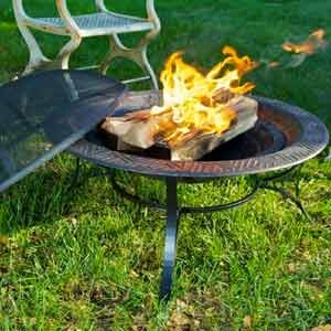 23 30 fire pit with spark screen patio for Amazon prime fire pit