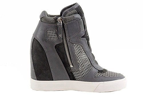 28f998a48d5 pictures of Donna Karan DKNY Women s Grand Cold Grey Charcoal Wedge Sneakers  Shoes Sz