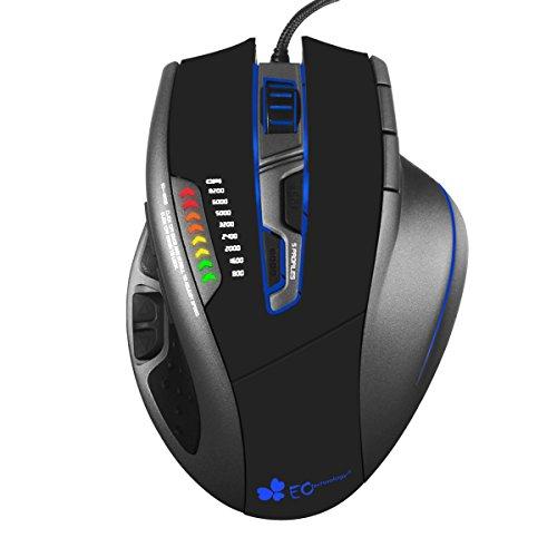 EC Technology 8200DPI ゲーミングマウス プログラム可能ボタン9個搭載 カスタマイズ可能