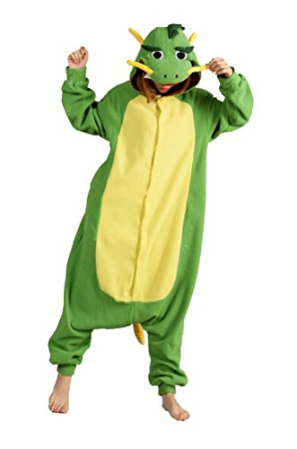 FashionFits Unisex Animal Cosplay Dragon Jumpsuit Pajama Costumes Onesie
