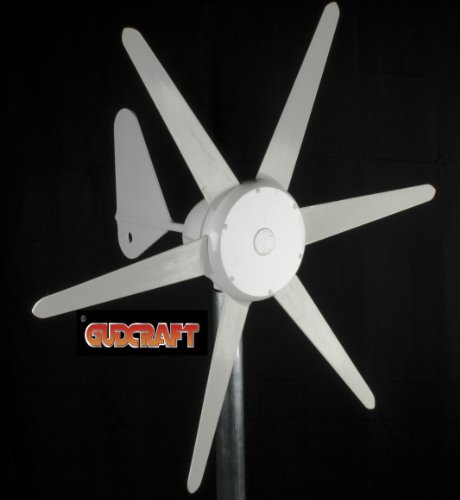 GudCraft WG300 12-Volt 6-Blade 300 Watt Wind Generator With Charge Controller