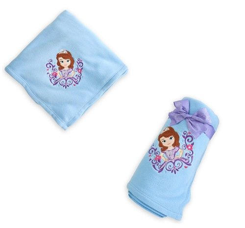 "Disney Sofia The First Soft Fuzzy Fleece Throw 60"" front-93684"