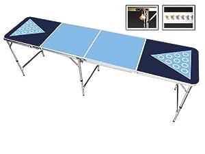 Light Blue & Navy Blue 8 Foot Beer Pong Table