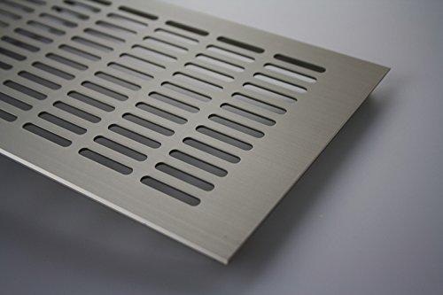 Griglia Di Aerazione Alluminio Copertura di riscaldamento Ottica In Acciaio Inox 150mm x 800mm