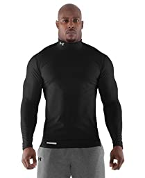 Under Armour Men\'s ColdGear Fitted Long Sleeve Mock Medium Black