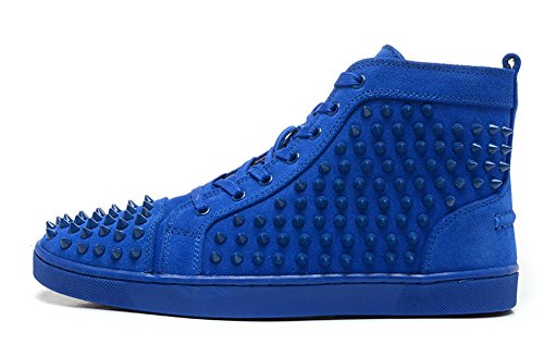 garlly-shoes-unisex-louis-orlato-spikes-sneakers-train-high-top-flats-blue-fusain-suede