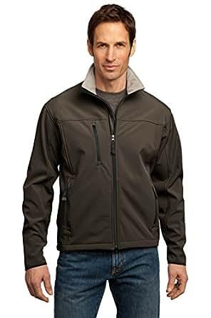Port Authority J790 Glacier Soft Shell Jacket,X-Small,Brown/Chrome