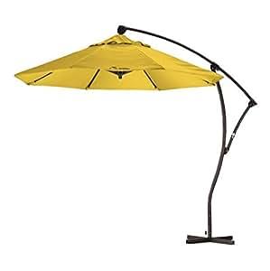 Patio Furniture Patio Umbrella 9 39 Cantilever Umbrella Color Yellow This Gorgeous