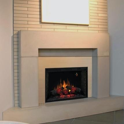 Fixed Front 33 in. Fireplace Insert w Backlit Display & Remote image B0041PMEWC.jpg