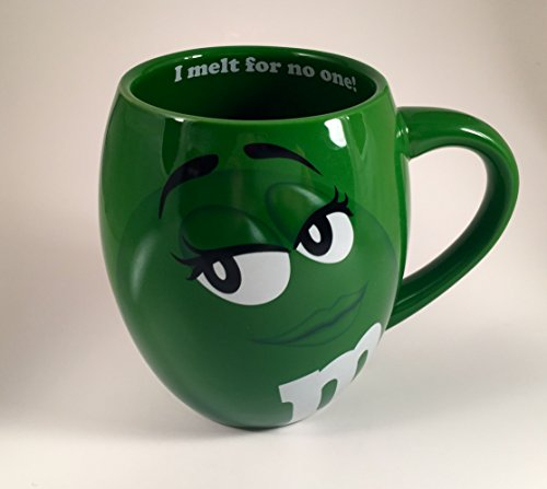 mm s big face ceramic mugs green m m m m shopswell