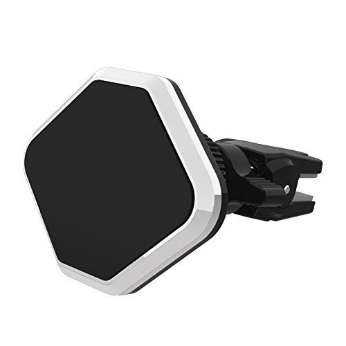 Car Mount, GULAKI Universal Magnetic Car Phone Mount Air Vent Mount Clip Holder for iPhone 6/6S Plus Nexus 6P 5X, Galaxy S6/S6 Edge, Note 5, LG G4 & Most Cell Phones, Mini Tablet (Black) (Iphone 6 Plus Car Vent Clip compare prices)