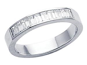 Karina B (tm) Baguette Diamonds Band in Platinum 950 Size 5