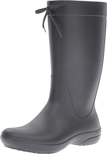 crocs Women's Freesail Rain Boot, Black, 11 M US (Rain Boots Women Size 11 compare prices)