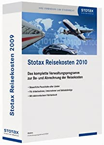 Stotax.Reisekosten 2010, 1 CD-ROM Das komplette Verwaltungsprogramm zur Be- und Abrechnung der Reisekosten. Steuerliche Pauschalen aller Länder. Für Arbeitnehmer, Unternehmer und Selbständige. Mit elektronischem Fahrtenbuch. Für Windows