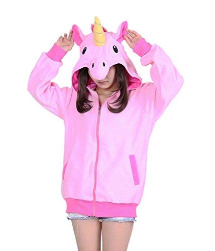 Aivtalk-Sweat--Capuche-Zipp-Animal-Cosplay-Costume-en-Polaire-pour-Adulte-Ado-Unisexe-Halloween-Dguisement-Gilet--Manches-Longues-Taille-150-182cm