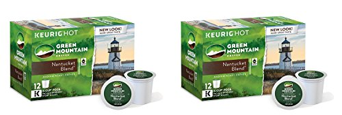 Keurig Green Mountain QVhGF Coffee K Cup Packs - Nantucket Blend - 72 Count (2 Pack) (Light Roast K Cups Nantucket compare prices)