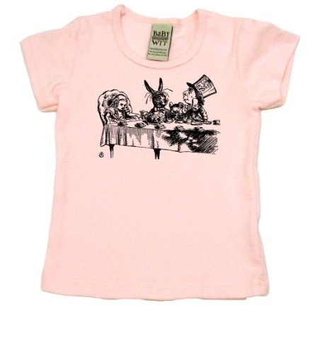 Alice In Wonderland Tea Party on Short Sleeve Toddler Fine Jersey T-shirt