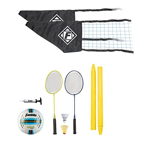 Franklin Sports Quik-Set Volleyball/Badminton Combo Kit