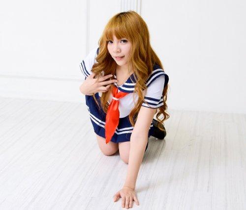 【World costume】 清純派ミニスカセーラー服 学生服 コスプレ 女子高生 【dw078】