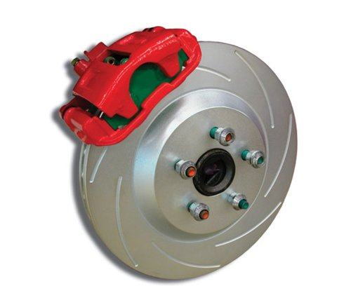 SSBC A160-1R Rear Disc Brake Conversion Kit with Red Calipers