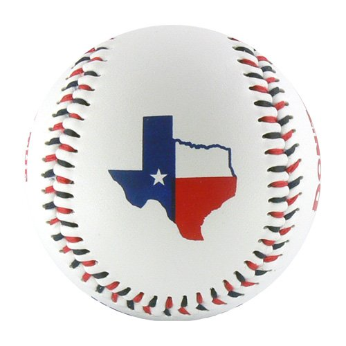 Texas Red, White & Blue T-Ball (Rubber Core) - 1