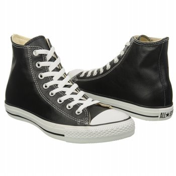 MENS CONVERSE ALL STAR HI LEATHER BLACK LEATHER SIZE 4
