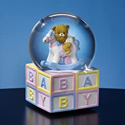 Baby Rocking Horse Water Globe by San Francisco Music Box