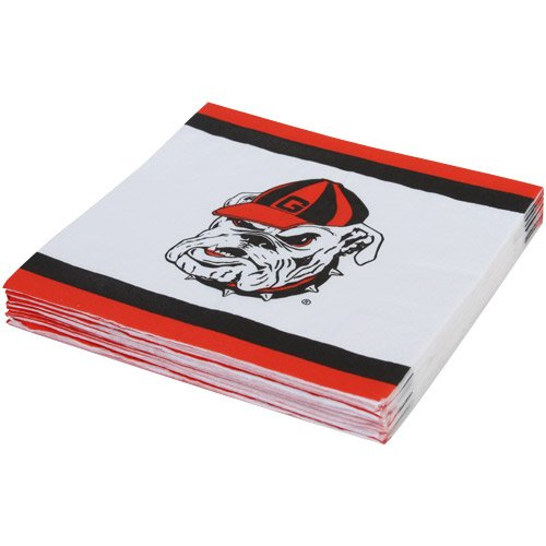 Mayflower Distributing Company 24 Count University of Georgia Beverage Napkin, Multicolor