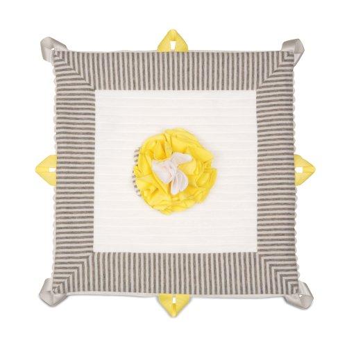 "Pavilion Gift Company Lovie Baby Blanket, Sunshine, 13"""
