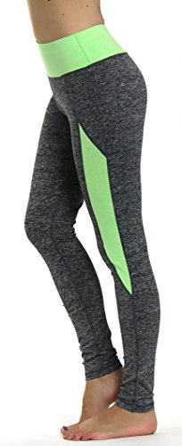 Prolific Health Yoga Pants Fitness Flex Power Leggings - All Colors - S - L (Medium, Gray/Neon Green Type1)