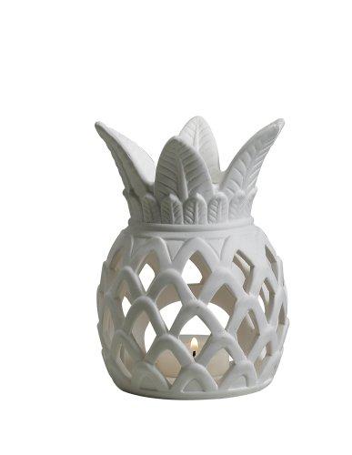 Biedermann & Sons Porcelain Pineapple Tealight Candle Holder