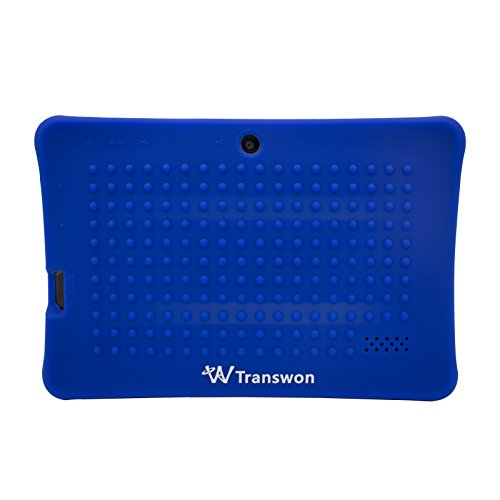 Transwon 7 Inch Android Tablet Case Shock Proof for Dragon Touch Y88X Plus, Alldaymall A88X, NPOLE Tablet 16G 1G IPS 7 Inch, NeuTab 7 Quad Core Android 5.1 Lollipop / NeuTab N7s Pro - Navy Blue (7 Inc Tablet Case For Kids compare prices)
