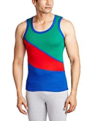 Opex Men's Cotton Vest (B019_Qbvuk2-44_Multi-Coloured_44)