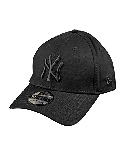 New Era - Cappellino con visiera MLB Classic NY Yankees 39Thirty, colore: Nero, (Nero), L/XL
