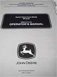 John Deere 2210 Manual >> John Deere Quick Hitch Front Blade | Car Interior Design