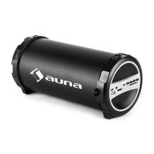 Auna-Dr-Beat-21-Bluetooth-Lautsprecherbox-Akku-Lautsprecher-fr-Unterwegs-USB-SD-Slots-AUX-Radio-Akku-Betrieb-silber